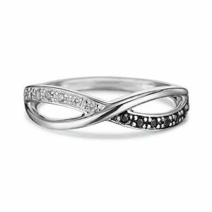 Sterling Silver Overlay CZ Ring Size 9